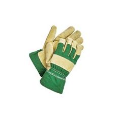 Shag  téli bélelt  munkavédelmi bőrkesztyű zöld