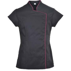 (LW15) Wrap tunika fekete - piros