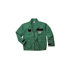 (TX10) Texo Contrast munkakabát zöld
