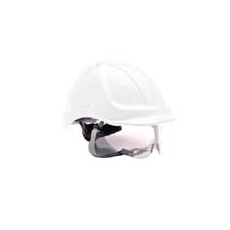 (PW55) Endurance védősisak védőszemüveggel fehér