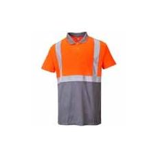 (S479) Két tónusú teniszpóló narancs - szürke