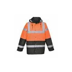 (S467)  Két tónusú kabát narancs - fekete