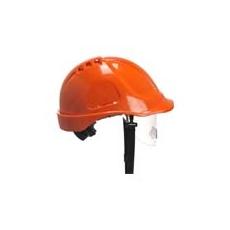 (PW55) Endurance védősisak védőszemüveggel narancs