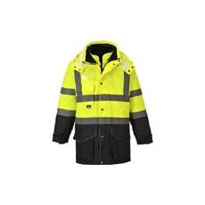 (S426) Hi-Vis 7 az 1-ben jól láthatósági kabát sárga