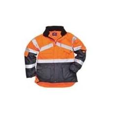 (S760) Jól láthatósági lélegző dzseki narancs/sötétkék