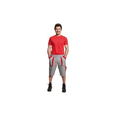 (Max)  munkás rövidnadrág szürke - piros