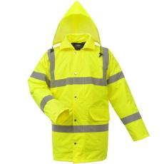 férfi fényvisszaverő poliészter kabát méret L sárga