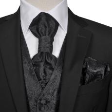 Férfi Praisley esküvői mellény szett méret 52 fekete