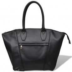 Négyzetes táska fekete