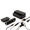 Konkis Vento Travel Kit 5 az 1-ben autós töltő, adatkábel, fülhallgató, dokkoló, hálózati adapter, Micro USB, 1000mAh, fekete