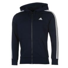 Adidas Essentials 3 Stripe Logo férfi kapucnis pulóver tengerészkék L