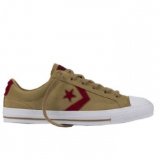Converse Star Player Ox Leather Unisex tornacipő, Sandy/Red Block, 39.5 (153755C-138-6.5)
