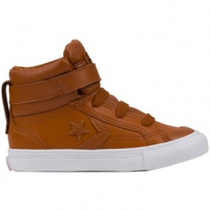 Converse Pro Blaze Strap Hi Leather gyerek tornacipő, Antique Sepia/White, 21 (753946C-808-5)