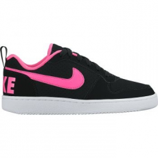 Nike Recreation Low gyerek sportcipő, Black/Pink Blast, 36 (845104-006-4y)