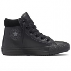 Converse Chuck Taylor All Star Boot Hi Leather gyerek tornacipő, Black/Thunder, 36 (654312C-001-4)