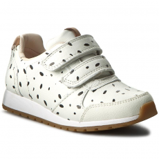 Clarks Félcipő CLARKS - Zest Max Inf 261236706 White Combi Leather