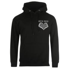 Official BandT Neck Deep férfi kapucnis pulóver fekete M