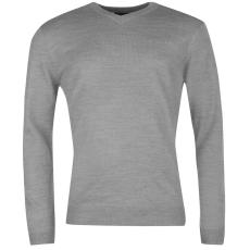 Pierre Cardin V nyakú férfi kötött pulóver szürke 3XL