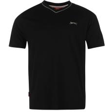 Slazenger Férfi V nyakú pamut póló fekete 3XL