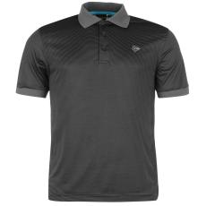 Dunlop Fine Stripe férfi galléros póló fekete 3XL
