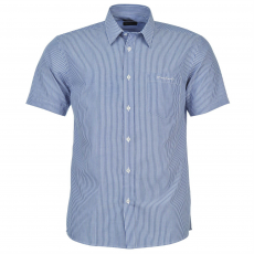 Pierre Cardin Rövid ujjú férfi ing kék 3XL