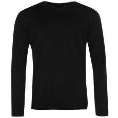 Pierre Cardin V nyakú férfi kötött pulóver fekete 3XL