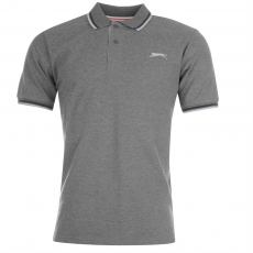 Slazenger Tipped férfi galléros póló sötétszürke 3XL