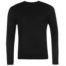 Pierre Cardin Crew férfi kerek nyakú kötött pulóver fekete 3XL