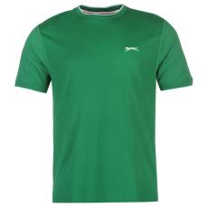Slazenger Tipped férfi kerek nyakú pamut póló sötétzöld XS
