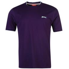 Slazenger Tipped férfi kerek nyakú pamut póló lila 4XL