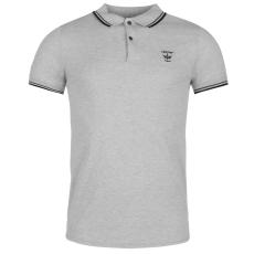 Firetrap Lazer Slim Fit férfi galléros póló szürke 3XL