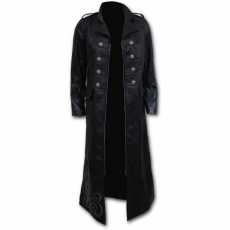 Spiral Direct, Anglia Vampire's Kiss - Gothic Trench Coat PU-Leather Corset Back, női kabát