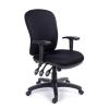 MAYAH Irodai szék, állítható karfával, fekete gyöngyszövet-borítás, fekete lábkereszt, MAYAH