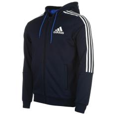 Adidas 3 Stripe férfi kapucnis cipzáras pulóver fehér 3XL