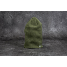 New Era Essential Long Knit Beanie Olive Green