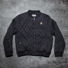 Urban Classics Diamond Quilt Nylon Jacket Black