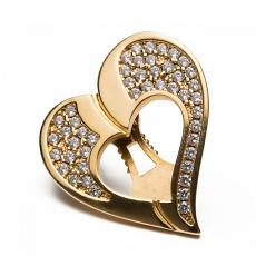 Shoeclipper Glittery Love Gold