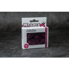 Mr Lacy Printies Hot Pink/ Black Zebra