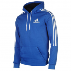 Adidas 3S Logo férfi kapucnis pulóver kék M
