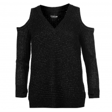 Firetrap Kardigán Firetrap Blackseal Cut Out Shoulder női