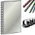 FELLOWES Spirál, műanyag, 28 mm, 201-240 lap, FELLOWES, fekete (50db/csom) IFW53489