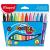 MAPED Filctoll készlet, 1-6 mm, kimosható, vastag, MAPED Color`Peps Maxi, 12 különböző szín (12db/csom) IMA846020