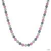 RafaelaDonata Lánc Sterling ezüst MuschelkernGyöngyngrau Antracit rózsaszín Hossz: 42 cm + 5 cm
