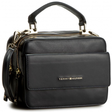 Tommy Hilfiger Táska TOMMY HILFIGER - Leather Twist Mini Trunk AW0AW03703 001