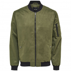 Only and Sons Faux Suede férfi bomber dzseki keki L