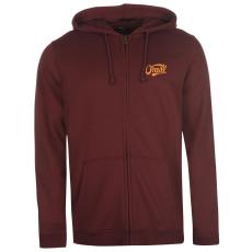 Oneill Logo férfi kapucnis cipzáras pulóver bordó S