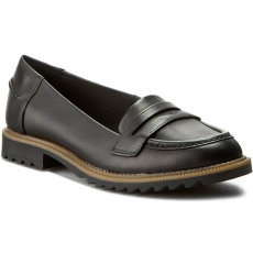 Clarks Félcipő CLARKS - Griffin Milly 261011014 Black Leather