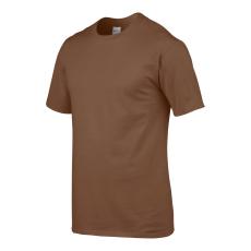 GILDAN Környakas Gildan prémium pamut póló, chestnut