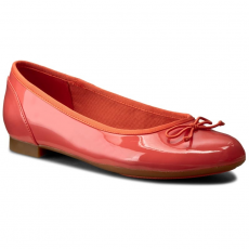 Clarks Balerina CLARKS - Couture Bloom 261227794 Coral Patent
