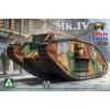 Takom WWI Heavy Battle Tank Mk.IV 2 in 1 tank makett 2076